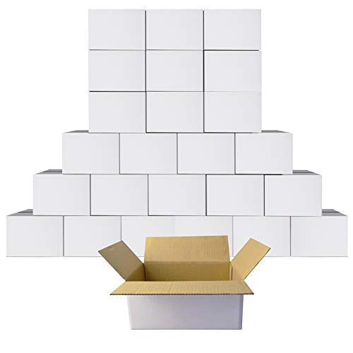9x6x4 Shipping Boxes White Cardboard Mailing Boxes Single Wall Corrugated...