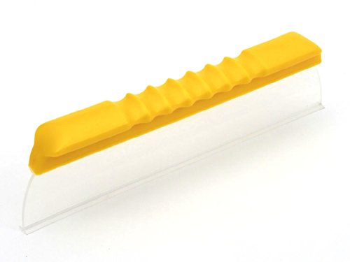 One Pass Super Flex 12' Waterblade Silicone T-Bar Squeegee Yellow for Cars,...