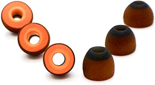 SYMBIO W Memory Foam & Silicone Hybrid Ear Tips. Provides Great Seal and...