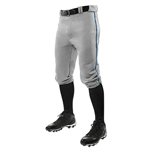 CHAMPRO Triple Crown Knicker Style Baseball Pants with Contrast-Color Braid...