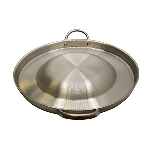 CHAMPS Stainless Steel Convex Comal Bola - Mexican Comal Frying Bowl -...