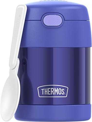THERMOS FUNTAINER 10 Ounce Stainless Steel Vacuum Insulated Kids Food Jar...