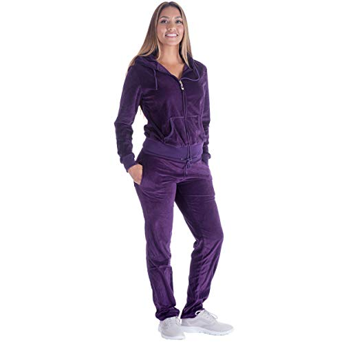 Sweat Suits for Women Set Jogging Workout Active wear Velour Outfits Hoodie...