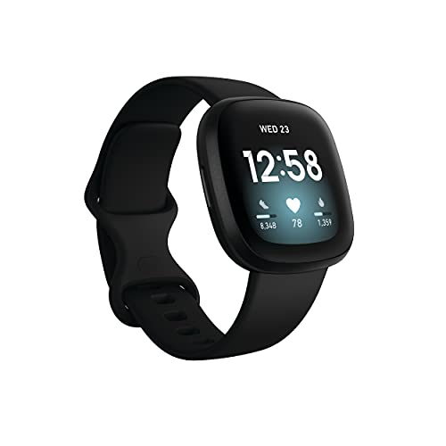 Fitbit Versa 3 Health & Fitness Smartwatch with GPS, 24/7 Heart Rate, Alexa...