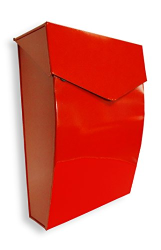 NACH MB-6921RED Bradley Steel Mailbox - Wall Mounted Post Box, Red, 10 x...