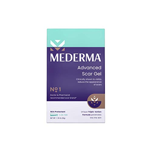 Mederma Advanced Scar Gel 1x Daily Reduces The Appearance Of Old New Scars...