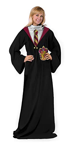Harry Potter Comfy Throw Blanket with Sleeves, 48 x 71 Inches, Gryffindor...