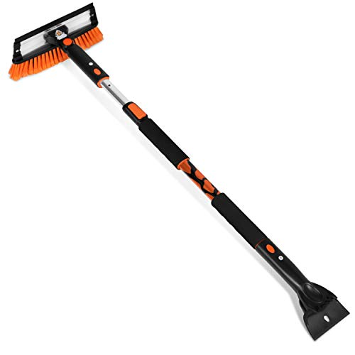 Snow MOOver 58' Extendable Snow Brush with Squeegee & Ice Scraper for Car...