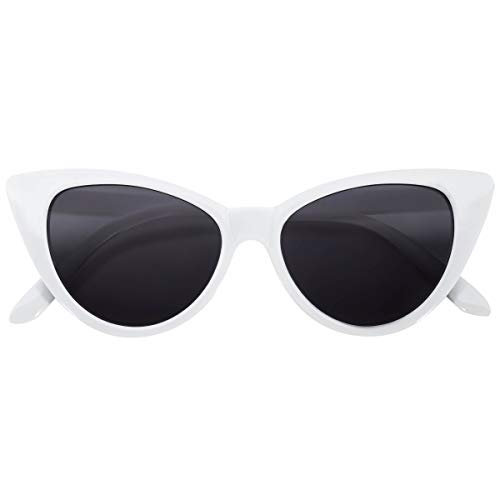 OWL Cateye Sunglasses for Women Classic Vintage High Pointed Winged Retro...
