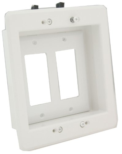 Arlington LVU2W-1 Recessed Low Voltage Mounting Bracket with Paintable Wall...