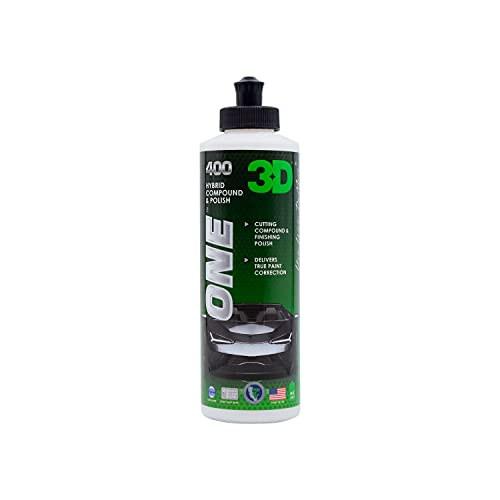 3D One - Car Scratch & Swirl Remover - Rubbing Compound & Finishing Polish...
