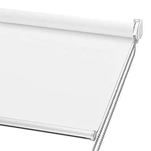 ChrisDowa 100% Blackout Roller Shade, Window Blind with Thermal Insulated,...