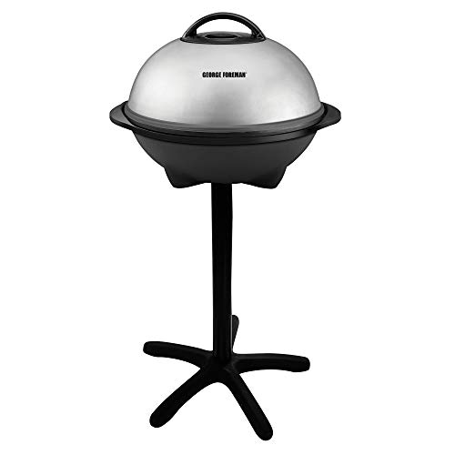 George Foreman, Silver, 12+ Servings Upto 15 Indoor/Outdoor Electric Grill,...