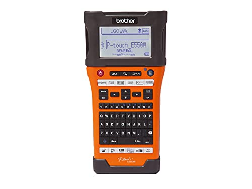 Brother Mobile PT-E550W Industrial Wireless Handheld Labeling Tool with...