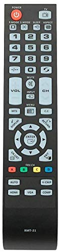 New RMT-21 Remote for Westinghouse LCD TV CW40T2RW CW40T6DW CW40T8GW...
