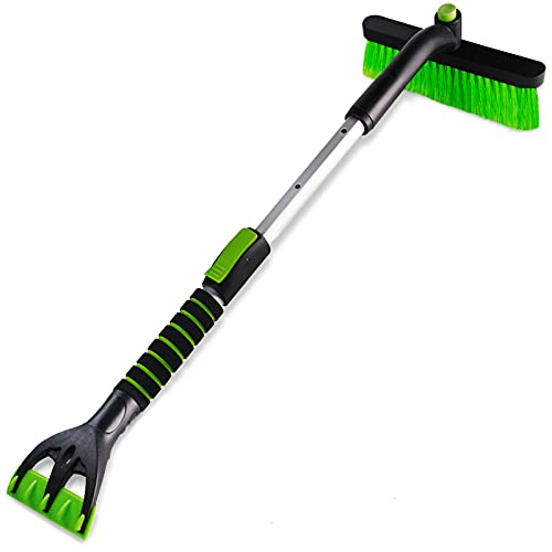 SEAAES Ice Scraper with Snow Brush for Car Windshield, Extendable Snow...
