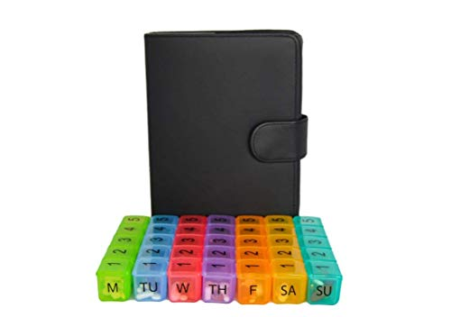 e-Pill 5 Times a Day x 7 Day Large Weekly Pill Organizer - with Discreet...