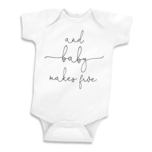 Bump and Beyond Designs Baby Announcement Gift, and Baby Makes Five (0-3...