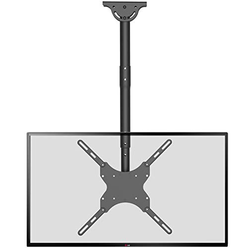 WALI TV Ceiling Mount Adjustable Bracket Fits Most LED, LCD, OLED and...