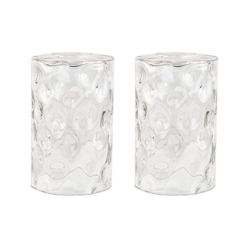 Anmire 2 Pack Clear Water Ripple Glass Shade Replacement, Cylinder Light...