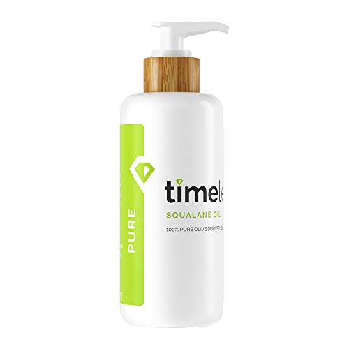 Timeless Skin Care Squalane Oil 100% Pure - 8 oz - Lightweight, Plant-Based...