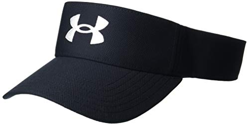 Under Armour mens Blitzing Visor , Black (001)/White , One Size Fits Most