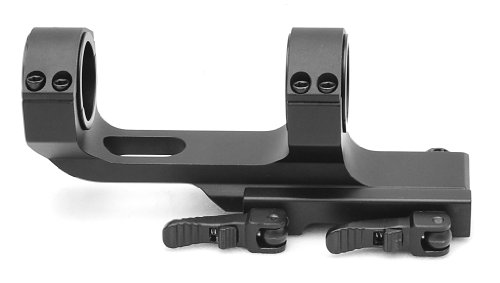 Flat Top Offset One Piece QD Scope Mount with Quick Release Cam Locks 1913...