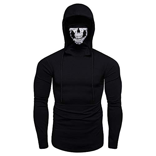 SSDXY Mens Workout Sleeveless Hoodies, Sweatshirt for Men with Neck Gaiter...
