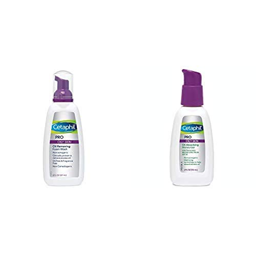 Cetaphil Pro Oil Removing Foam Wash, 8 Fluid Ounce (Pack of 3) with Pro Oil...