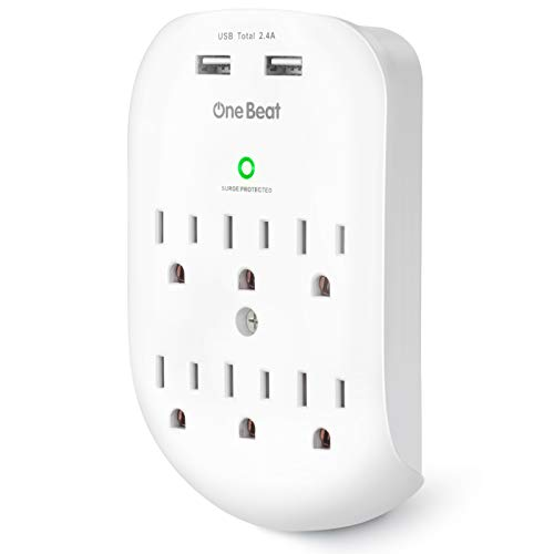6-Outlet Surge Protector, Wall Outlet Extender Multi Plug Outlet Wall...
