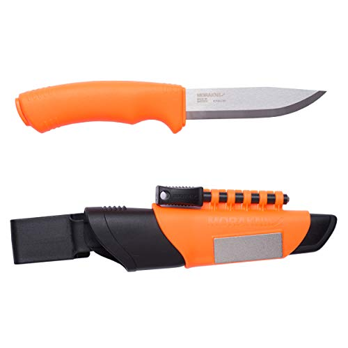 Morakniv Bushcraft Stainless Steel 4.3-Inch Fixed-Blade Survival Knife with...