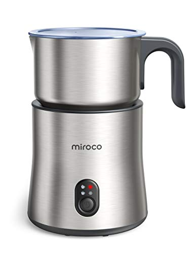 Detachable Milk Frother for Coffee, Miroco Electric Stainless Steel Milk...
