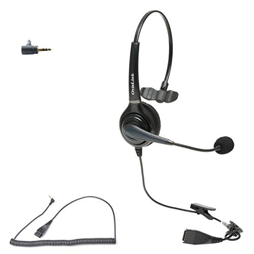 Professional 2.5mm Call Center Headset for Polycom SoundPoint Pro SE 220,...