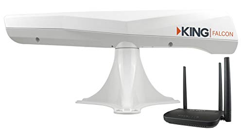 KING KF1000 Falcon Automatic Directional WiFi Antenna with WiFiMax Router...
