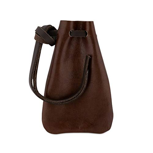 Leather Drawstring Pouch, Coin Bag, Medicine Tobacco Pouch Medieval...