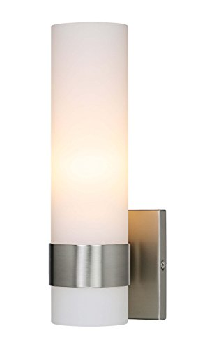 XiNBEi Lighting Wall Light ADA Wall Sconce with Opal Cylinder Glass in...
