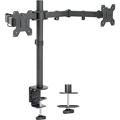 VIVO Dual LCD LED 13 to 27 inch Monitor Desk Mount Stand, Heavy Duty Fully...
