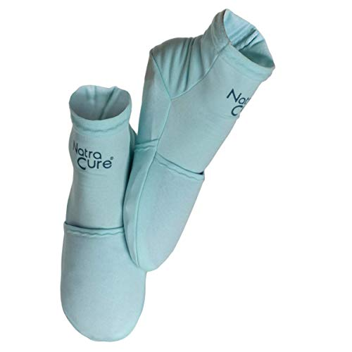 NatraCure Cold Therapy Socks - Reusable Gel Ice Frozen Slippers for Feet,...
