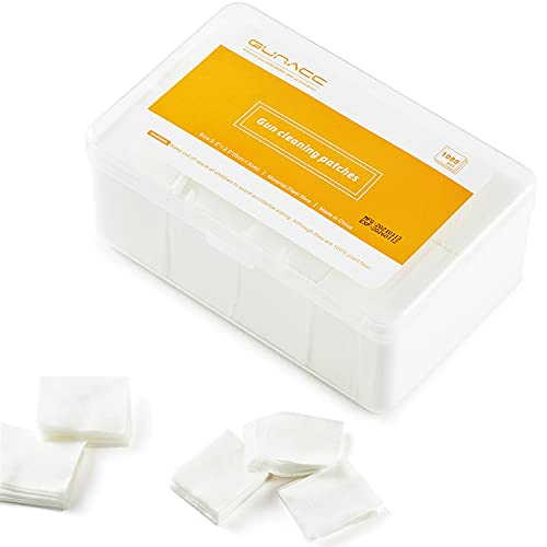 GUNACC Gun Cleaning Patches, Square Patches for .22 .223 5.56mm .30 .357...