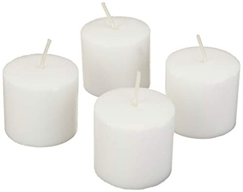 Amazon Basics 24-Pack Unscented Votive Candles - 8 Hour Burn Time - White