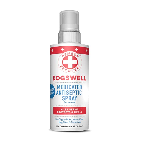 DOGSWELL Remedy + Recovery Medicated Antiseptic Spray for Dogs, 4 oz....