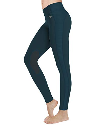 FitsT4 Women's Riding Tights Knee Patch Equestrian Breeches Horse Pants...
