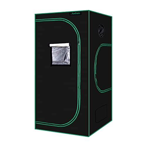 ANDRAM Grow Tent, 2'x2' 600D Mylar Reflective Grow Tents for...