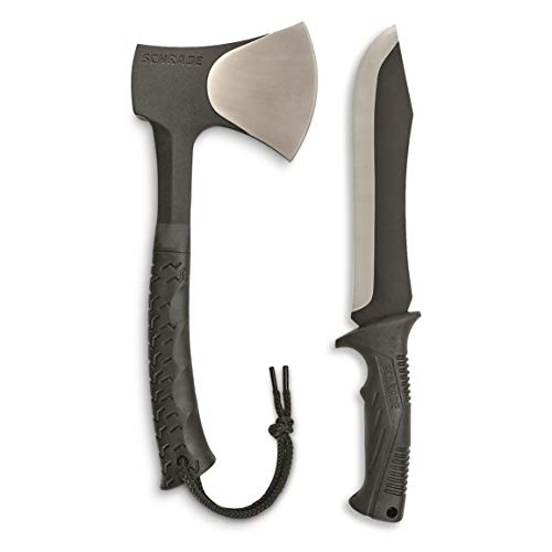 Schrade SCHCOM6CP Full Tang Hatchet and Mini Machete Combo with Stainless...