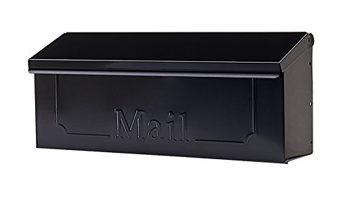 Gibraltar Mailboxes Townhouse Small Capacity Galvanized Steel Black,...