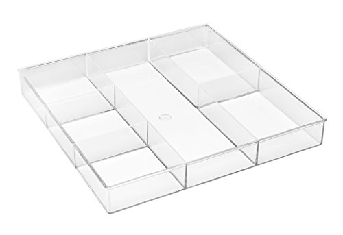 Whitmor 6-Section Clear Drawer Organizer
