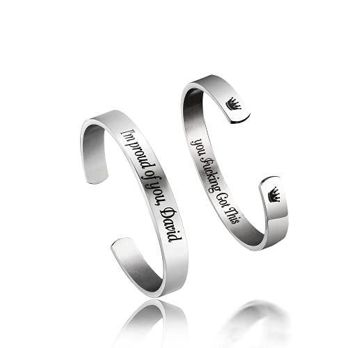 Personalized Stainless Steel Mirro Polished Cuff Bracelet -Free Engraving...