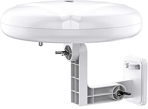 HDTV Antenna - 1byone 360° Omni-Directional Reception Amplified Outdoor TV...