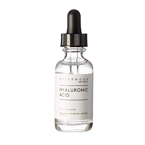 Asterwood Naturals Pure Hyaluronic Acid Serum for Face; Plumping,...