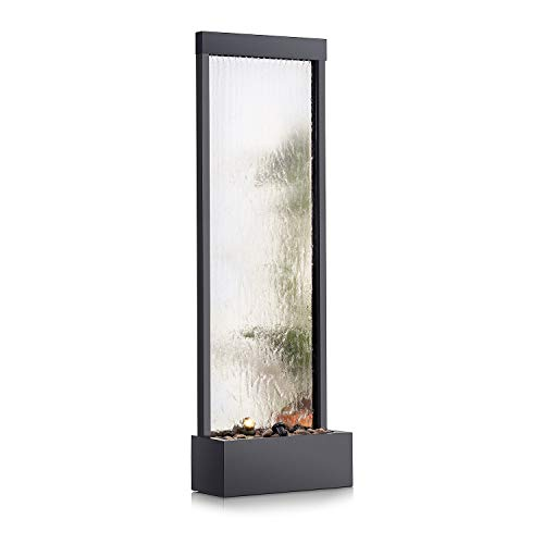 Alpine Corporation MLT102 Mirror Waterfall Fountain with Stones and Light,...